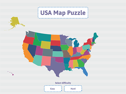 United States Map Puzzles.Geography Practice Usa Puzzle Map Abcya