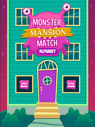 monster mansion match match sounds to the alphabet