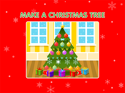 click and drag the ornaments decorations and gifts to decorate a christmas tree you can add a custom message and your name before you save - Pictures Of Pretty Decorated Christmas Trees