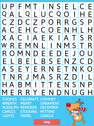 christmas word search is a fun holiday activity for children of all ages puzzles can be created two ways a small grid with shorter words or a larger grid