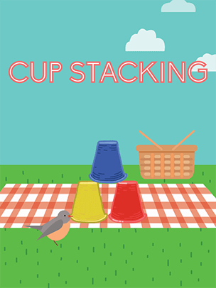 cup stacking game practice typing skills for kids