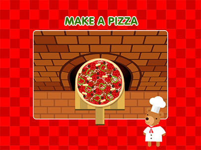 make a pizza game for kids