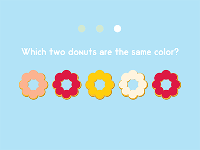 same and different donut game abcya