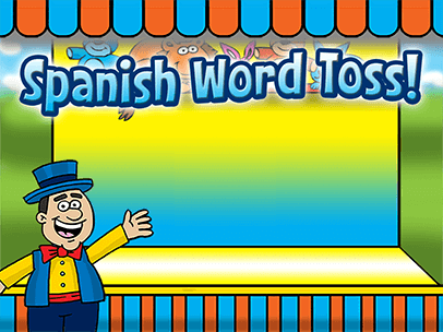 spanish word toss is a fun educational game for kids to practice spanish vocabulary words there are over 200 common spanish words grouped into 11 different