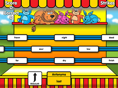 Word Toss Synonyms And Antonyms Is A Fun Educational For Kids To Practice Matching Can Choose From Two Diffe Levels Of