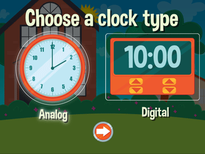 Time Travel Game Learn To Tell Time
