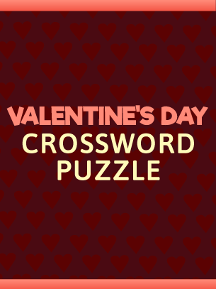 Valentine S Day Crossword Puzzle Fun Holiday Game