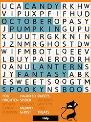 halloween word search subscriber log in here