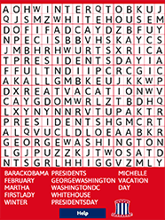 Kids Holiday Word Search Puzzles Presidents Day Abcya
