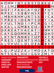 Kids Holiday Word Search Puzzles - Presidents' Day | ABCya!