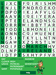 Kids Holiday Word Search Puzzles Saint Patrick S Day Abcya