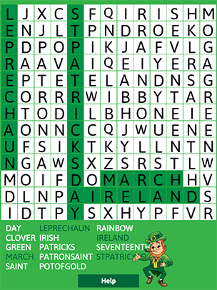 Kids Holiday Word Search Puzzles - Saint Patrick's Day ...